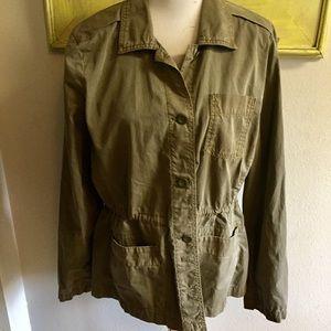 Eddie Bauer utility jacket olive green Sz XL